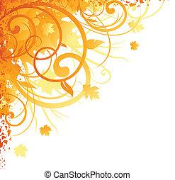 outono, canto, desenho