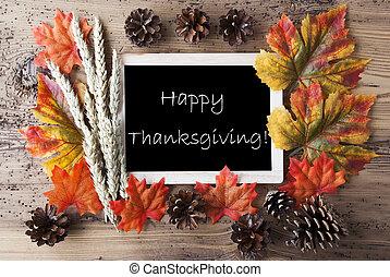 outono, decoração, feliz, ação graças, chalkboard