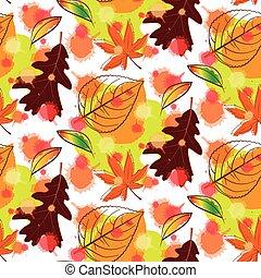 outono, padrão, seamless, coloridos