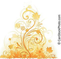 outono, projeto floral