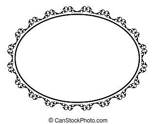 oval, ornamental, decorativo, quadro
