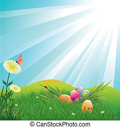 ovos, feriado, páscoa, coloridos