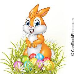 ovos, páscoa, caricatura, coelhinho
