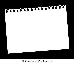 página, em branco