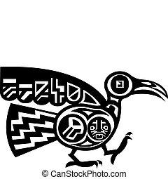 pássaro, aztec