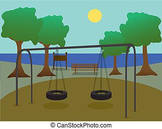 pátio recreio, parque