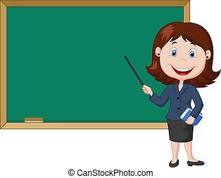 pé feminino, caricatura, nex, professor