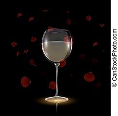 pétalas, vinho branco