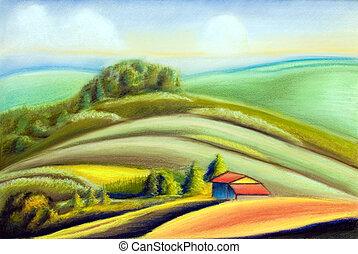 país, paisagem