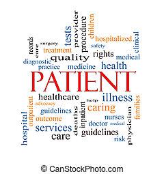 paciente, conceito, palavra, nuvem