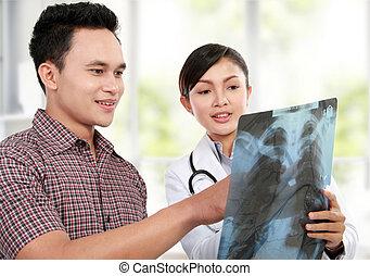 paciente, médico feminino