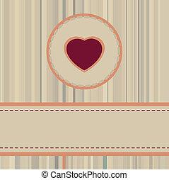 pacote, vindima, eps, valentine, 8, ou, cartão, design.