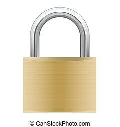 padlock, anexado