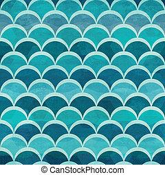 padrão água, círculo, seamless