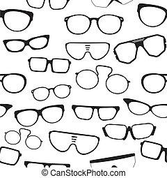 padrão, óculos, seamless