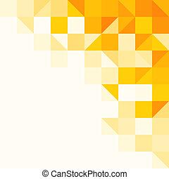 padrão, abstratos, amarela