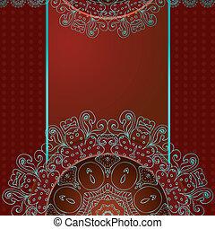 padrão, abstratos, arabesques, desenho