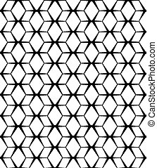 padrão, abstratos, seamless, experiência., vetorial, pretas, branca