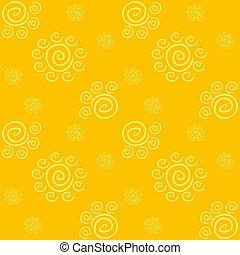 padrão, amarela, solar