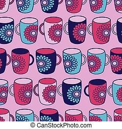 padrão, assalta, fundo, seamless, poder, flor, cor-de-rosa