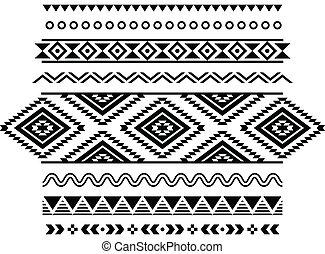 padrão, aztec, seamless, tribal