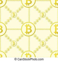 padrão, bitcoin, seamless