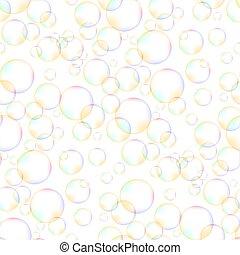 padrão, bolhas, espuma, seamless, coloridos