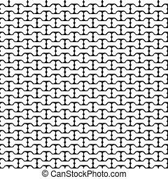 padrão, branca, pretas, seamless, osso