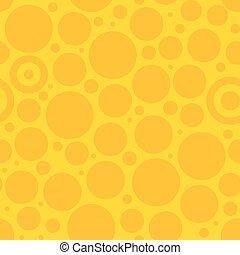 padrão, círculo, amarela