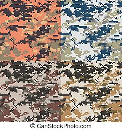 padrão, camuflagem, seamless