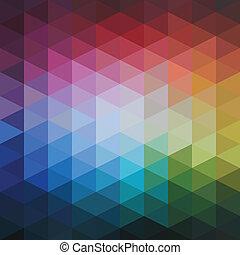 padrão, coloridos, abstratos, vetorial, triângulos