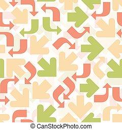 padrão, coloridos, fundo, seta, seamless