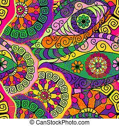 padrão, coloridos, seamless