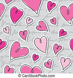 padrão, corações