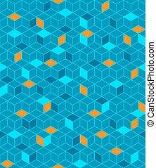 padrão, cubos, seamless