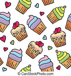 padrão, cupcakes