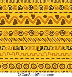 padrão, feito à mão, ornamento, desenho, étnico, geomã©´ricas, seu