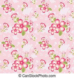 padrão, flor, oriental, seamless, fundo