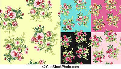 padrão, flor, seamless, fantasia