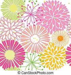 padrão, flor, springtime, coloridos, seamless