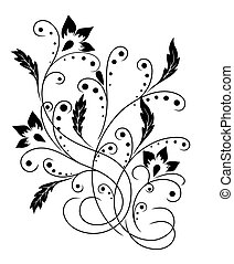 padrão, flor