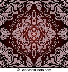 padrão floral, abstratos, seamless