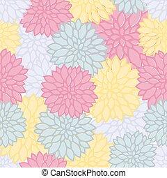 padrão floral, coloridos, seamless, fundo