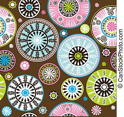 padrão floral, oriental, colorido