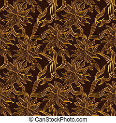 padrão floral, ornamento, renda, seamless