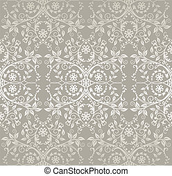 padrão floral, renda, prata, seamless