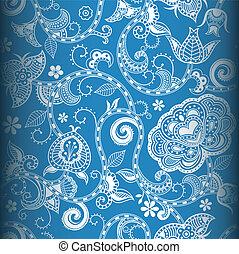 padrão floral, seamless, 4