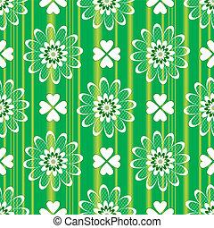 padrão floral, verde, seamless, (vector)