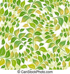 padrão floral, white-green, seamless