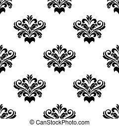 padrão, foliate, arabesco, damasco